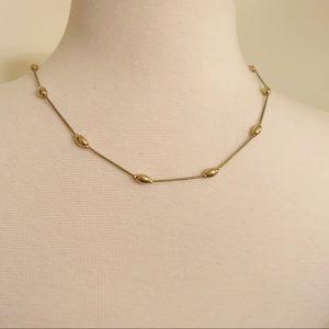Vintage delicate necklace faux gold